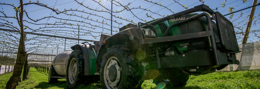 Hort Force run a specialist fleet of high power spray equipment to deal with kiwifruit orchards.