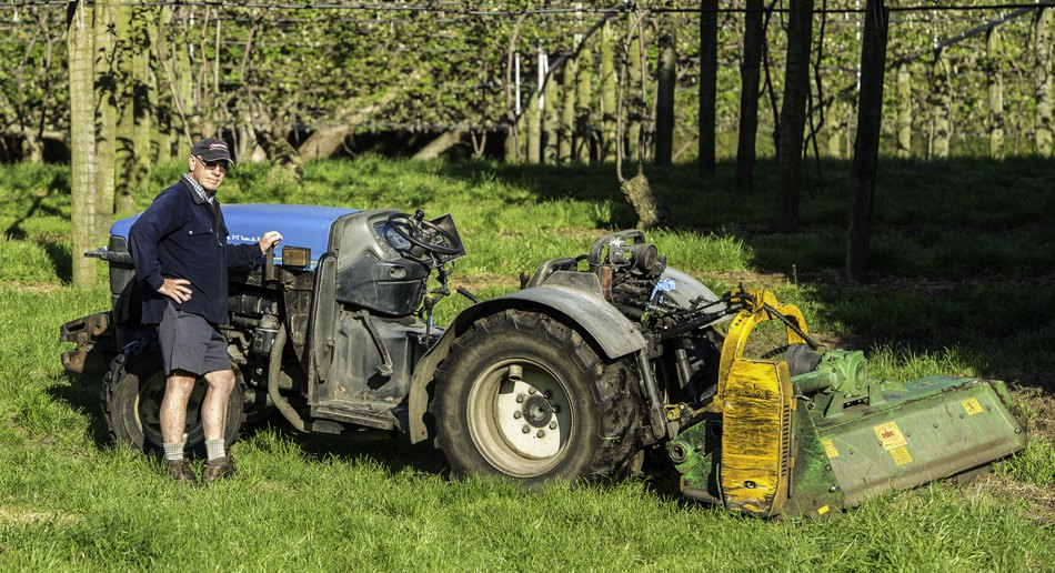 Hort Force has a high capacity CABE mulcher-mower which makes short work of any cuttings and grass within orchards.